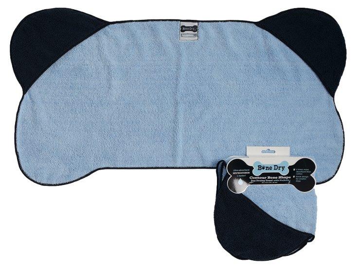 Bone Shape Pet Towel, Blue