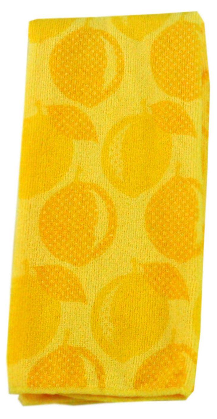 S/2 Lemon Print Towels