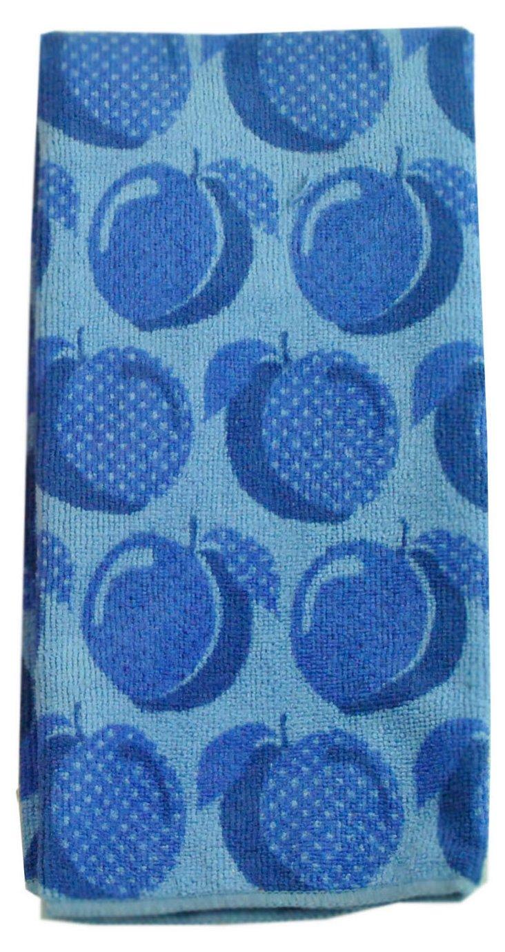 S/2 Plum Print Towels