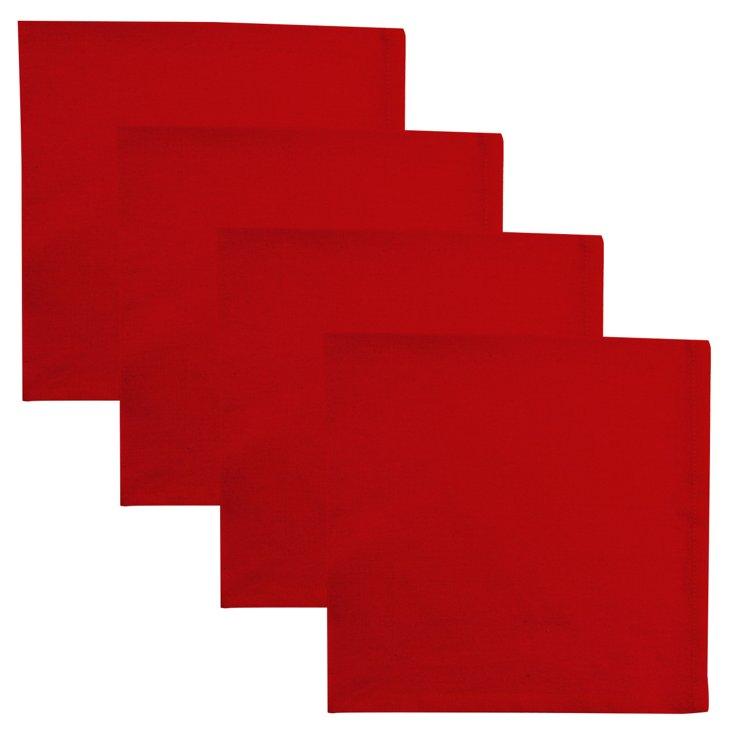 S/4 Basic Napkins, Red