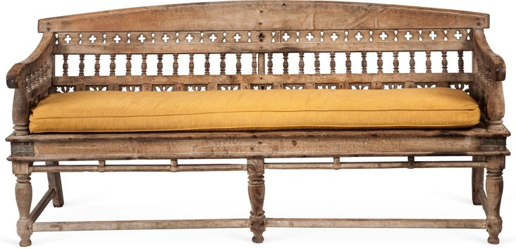 19th-C. Indian Bench