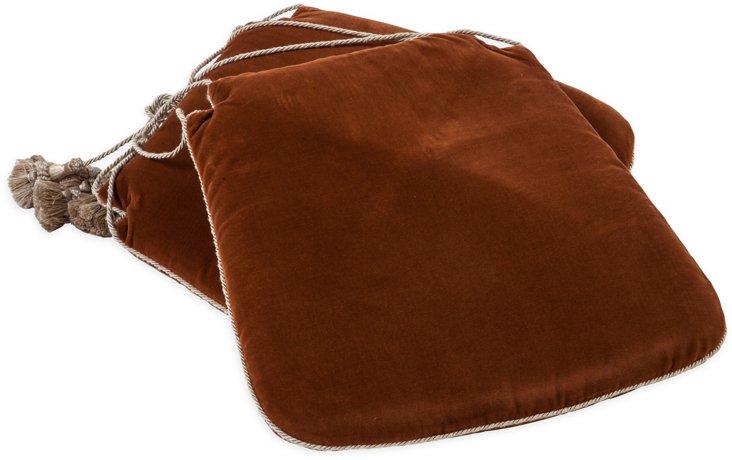 Velvet Seat Cushions, Pair