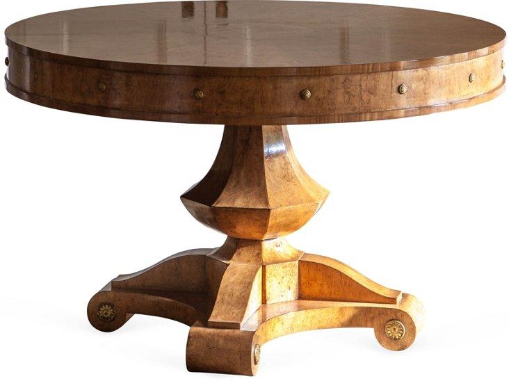 Birch Pedestal Table
