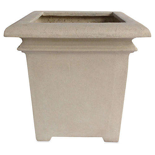 "24"" Palace Square Planter, Natural"