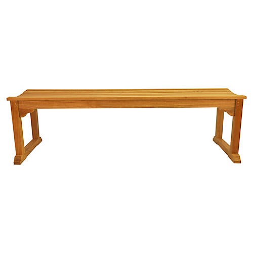 Mason 3-Seater Bench, Natural
