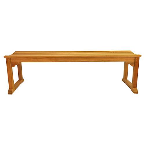 Mason 3-Seater Bench, Natural