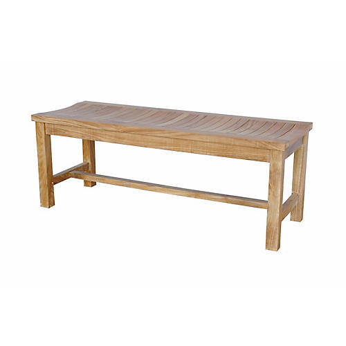 Casablanca 2-Seater Bench, Natural