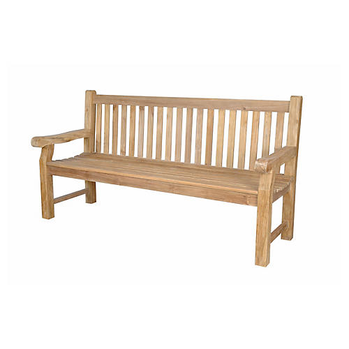 Devonshire 4-Seater Bench, Natural