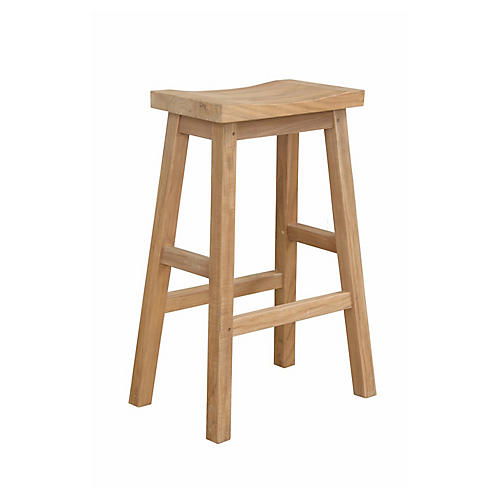 S/2 Alpine Rectangular Counter Stool, Natural