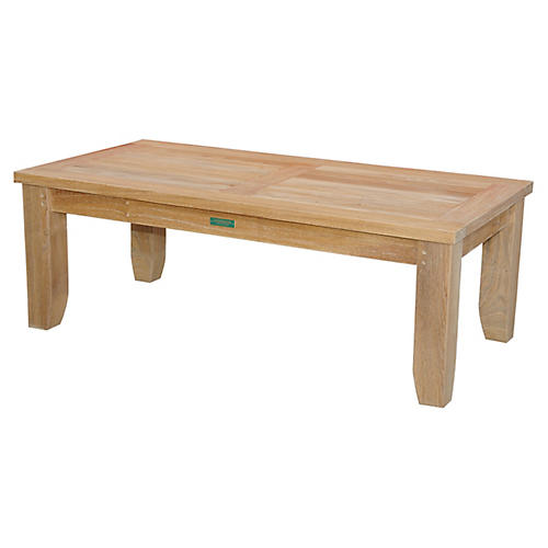Luxe Rectangle Coffee Table, Natural