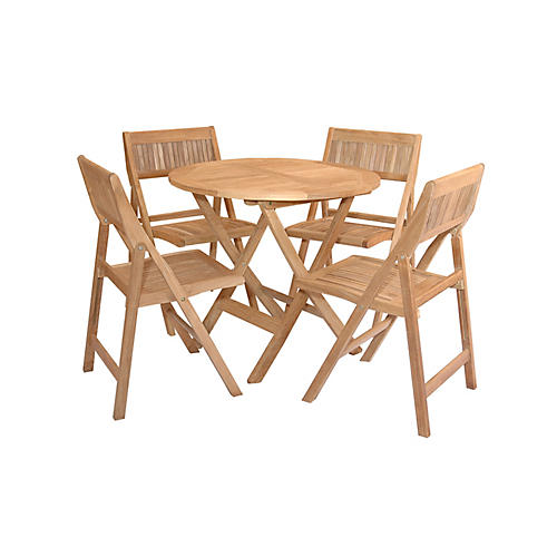Windsor 5-Pc Round Dining Set, Natural