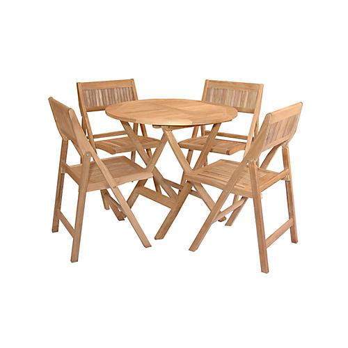 Windsor 5-Pc Round Dining Set, Natural