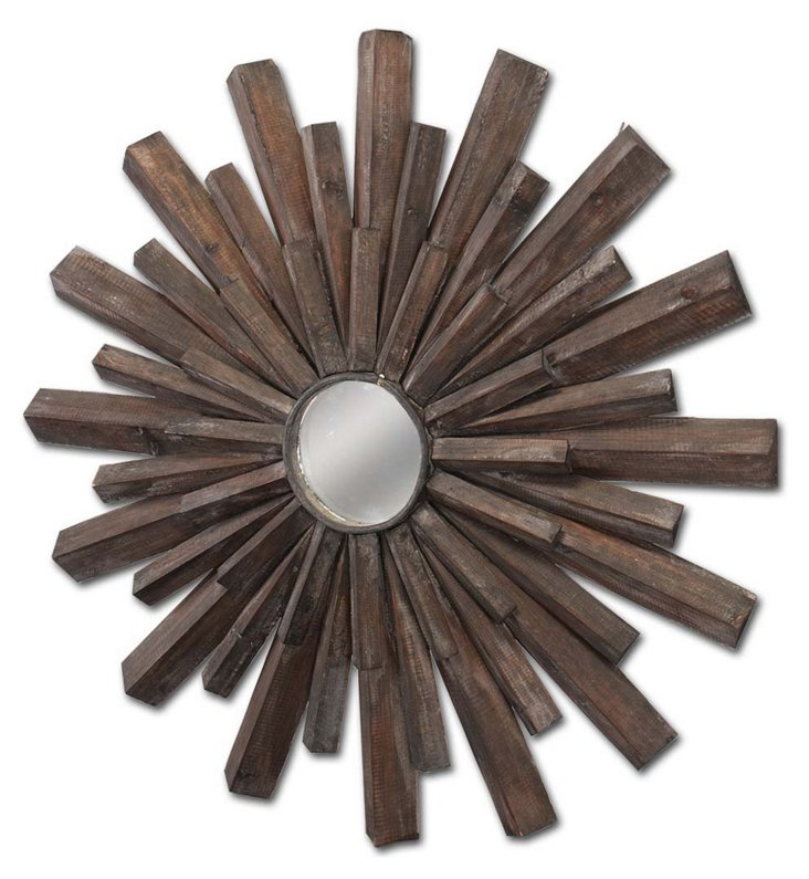 Roseau Wall Mirror, Natural Brown