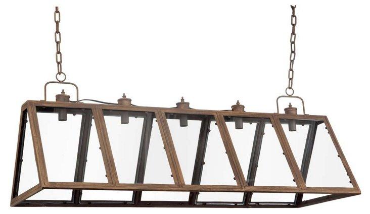 Irvington 5-Light Linear Fixture, Brown