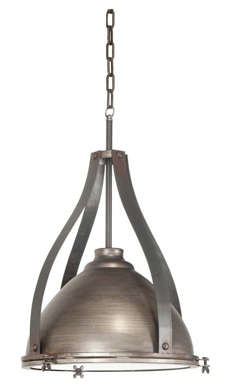 Reba 1-Light Pendant, Rustic Silver