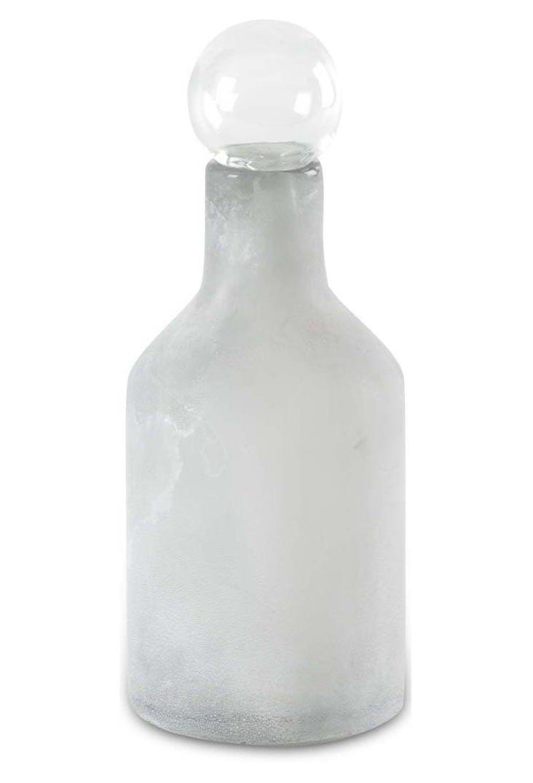 """14"""" Glass Bottle, Gray"""