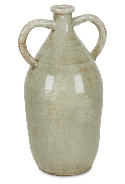 """10"""" Ceramic Jug, Green"""