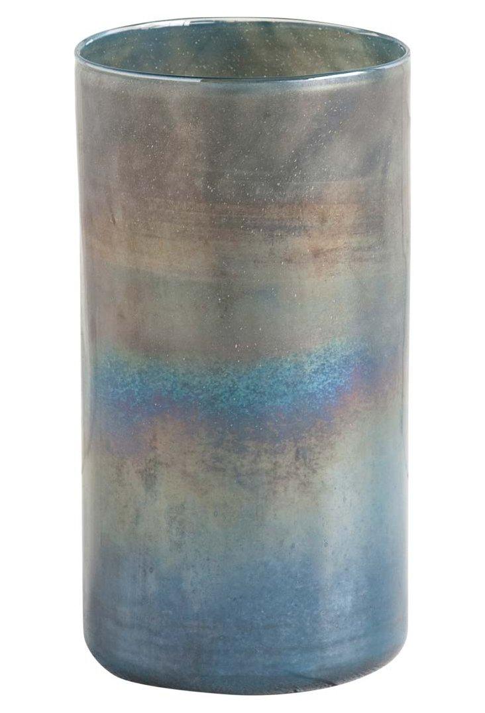 "16"" Sea Vase, Iridescent Blue"