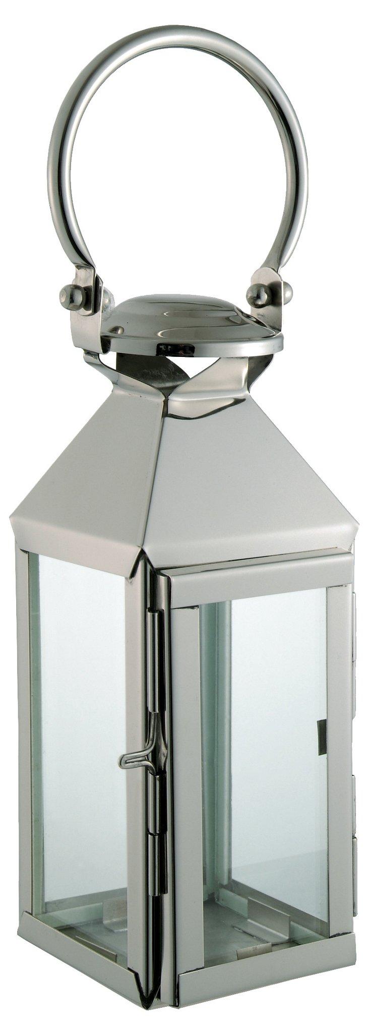 """16"""" Square Nickel Lantern"""