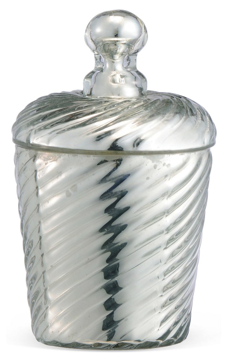 Ribbed Candle Cylindrical Canister