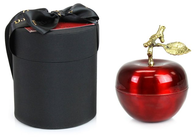 4.5 oz Pomme Rouge Apple Candle, Red