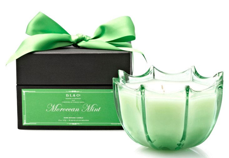 15 oz. Scallop Candle, Moroccan Mint