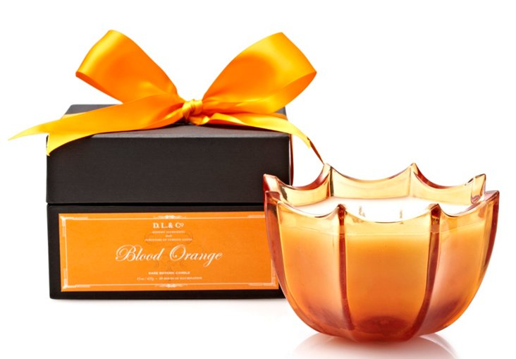 15 oz. Scallop Candle, Blood Orange