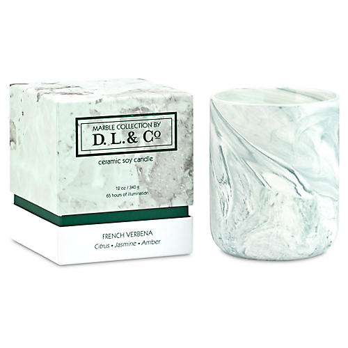 French Verbena Marble 3-Wick Candle