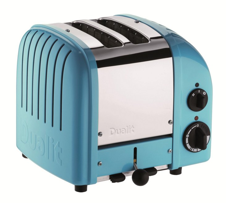 2-Slice Toaster, Azure Blue