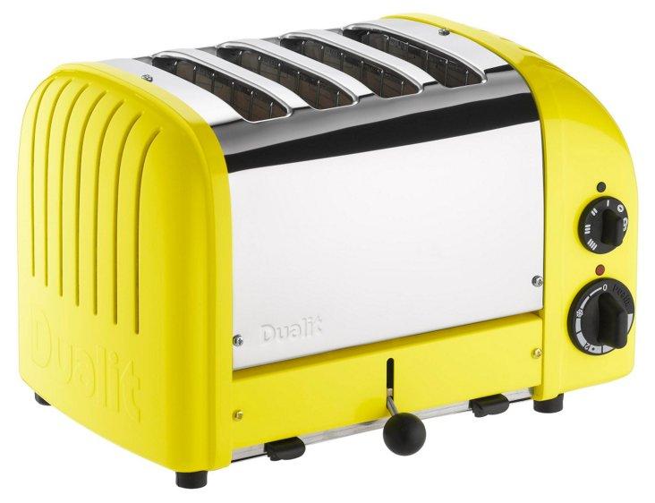 4-Slice NewGen Toaster, Citrus Yellow