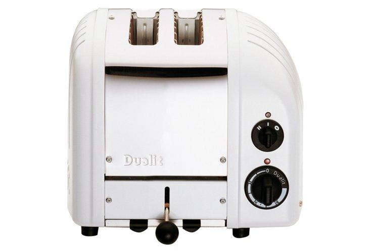 2-Slice Stainless Toaster, White