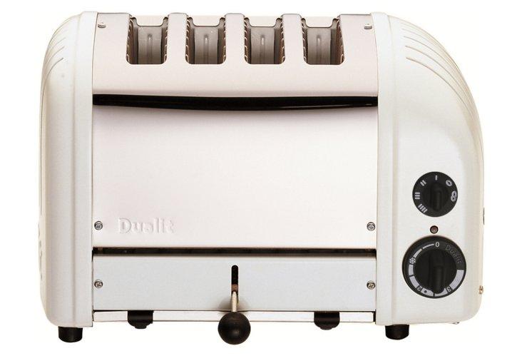 4-Slice Toaster, White