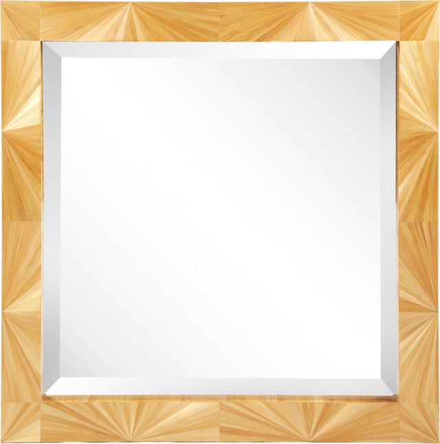 Straw Marquetry Mirror