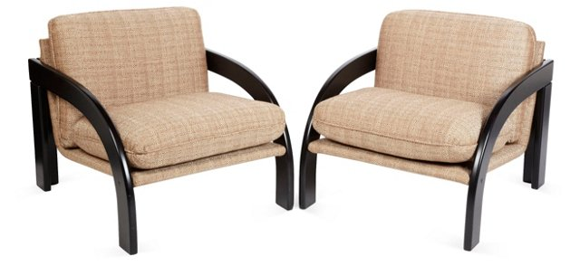 1960s Pupillo & Paletta Chairs, Pair