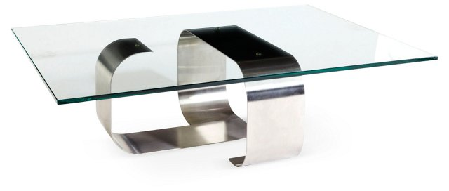 François Monnet Steel & Glass Table