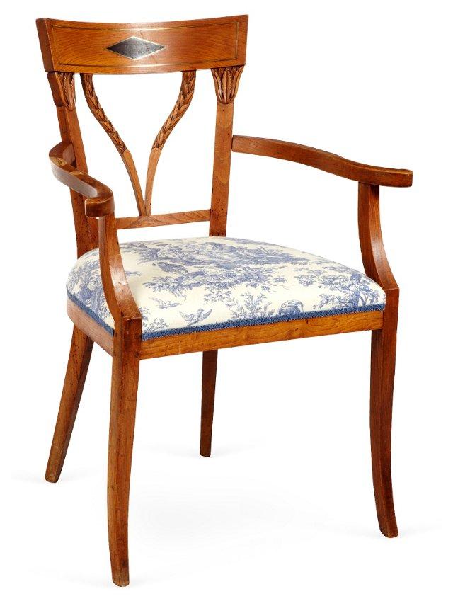 Antique Dutch Empire Armchair