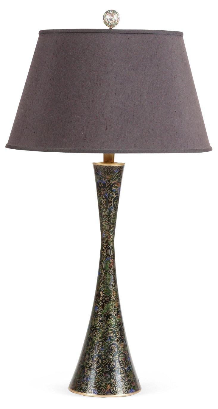 1960s Cloisonné Lamp