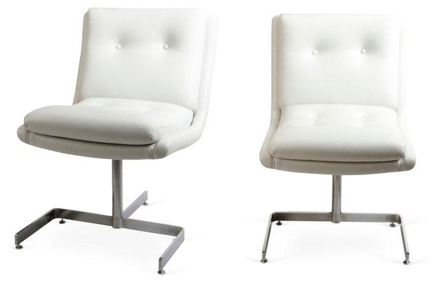 Raphael Slipper Chairs, Pair