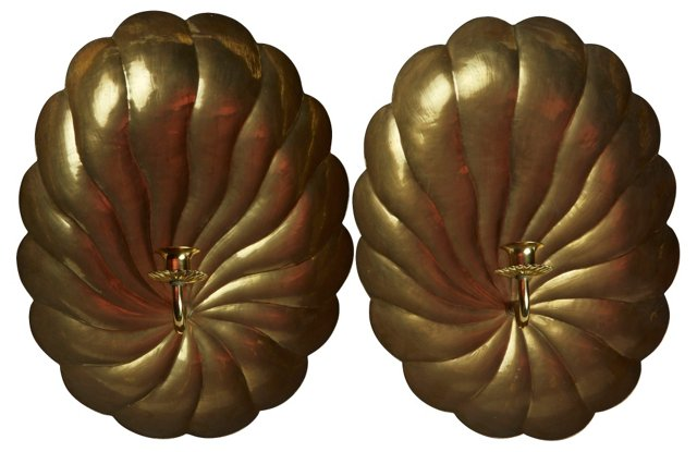 1960s English Sconces, Pair