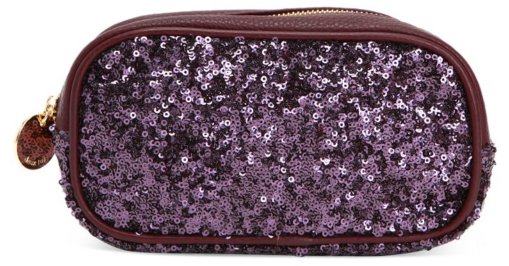 Anais Cosmetic Case, Dark Purple