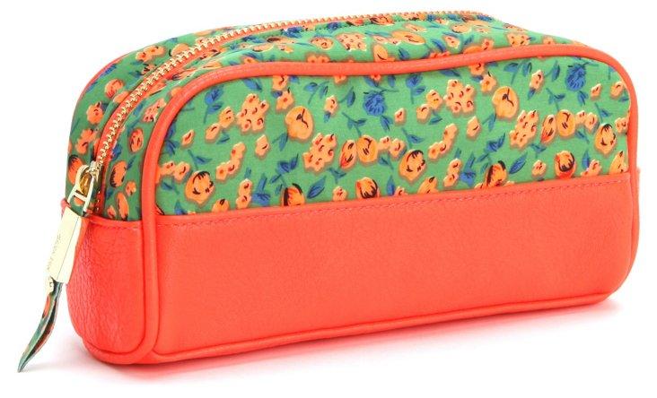 Fitz Brush Case, Orange/Green