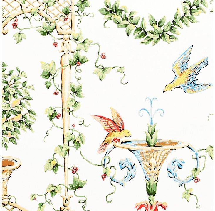 Marion Canterbury Wallpaper, White