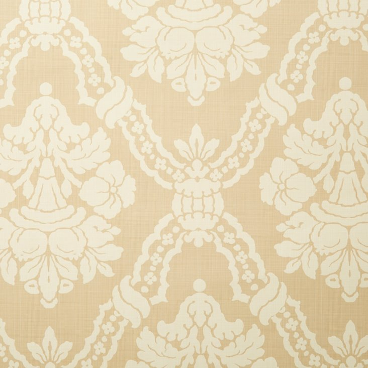 Essex Damask Wallpaper, Taupe