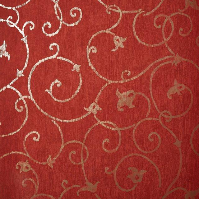 Meredith Wallpaper, Terracotta