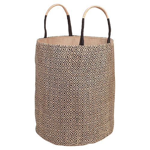 Loomed Basket, Black Diamond
