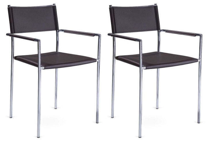 Black Mosley Chairs, Set of 4