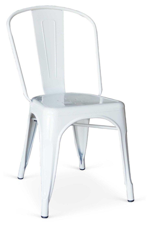 White Celia Chairs, Set of 4