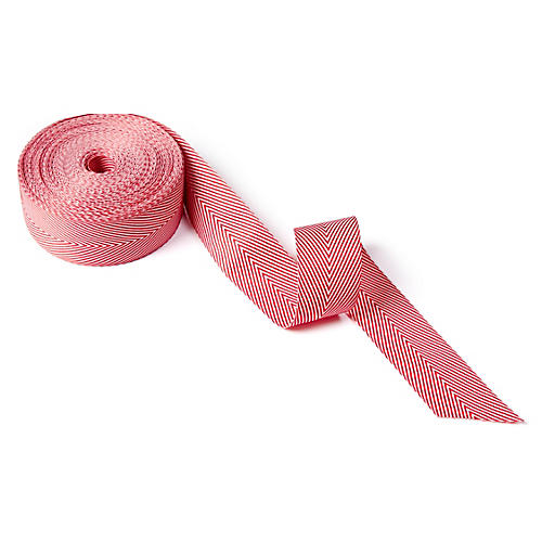 "1.5"" Striped Ribbon, Red"