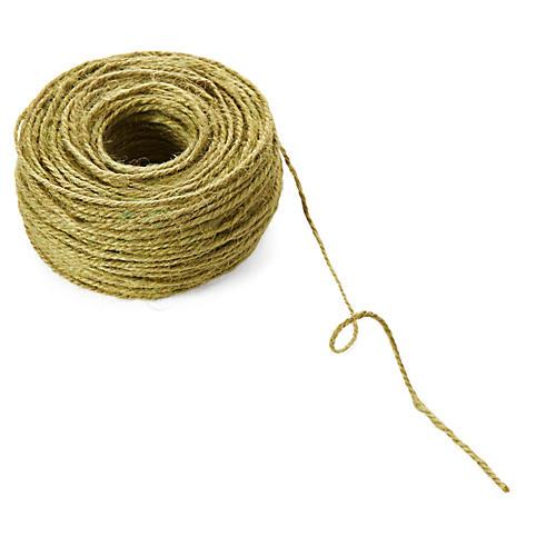 2mm Twisted Burlap Ribbon, Olive