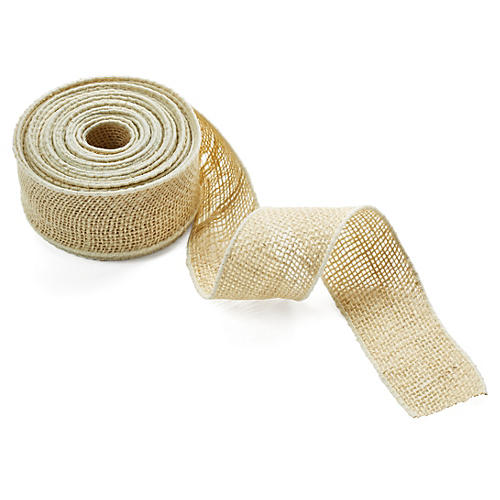 2.5'' Burlap Ribbon, Natural